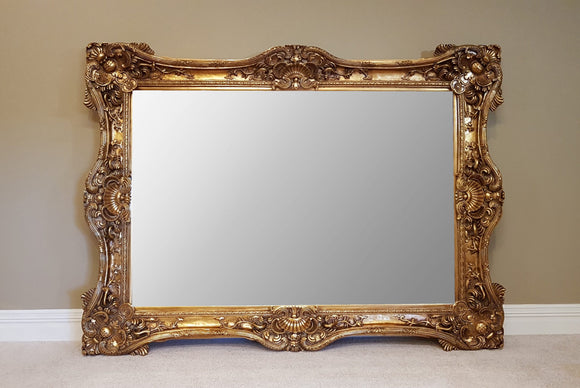 Highly Ornate Antique Gold Mirror