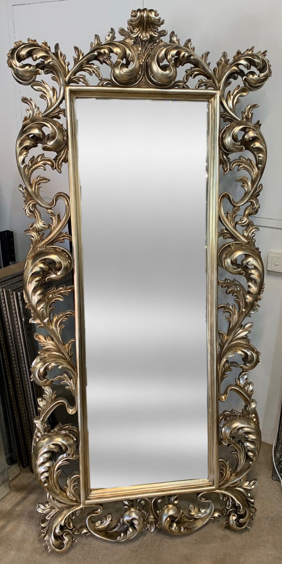Antique Silver Mirror Free Standing