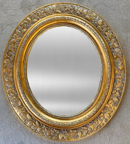Handcarved gilt mirror