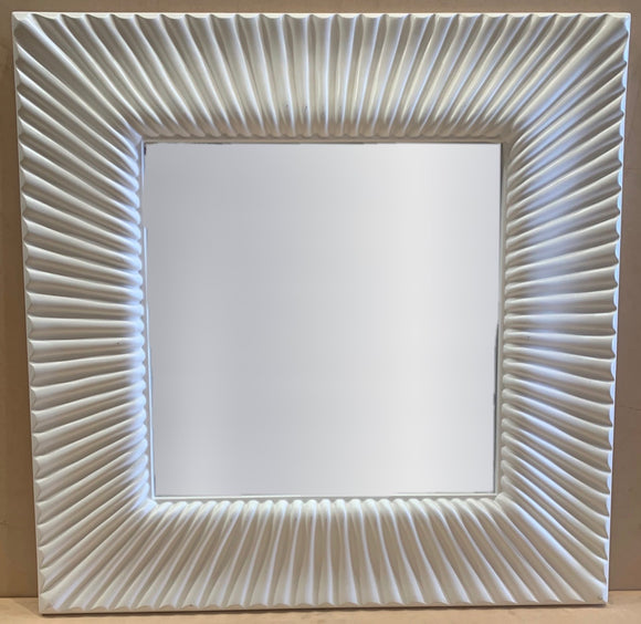 White Wave Pattern Mirror