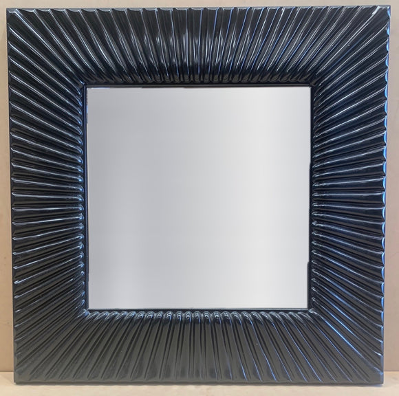 Black Wave Pattern Mirror