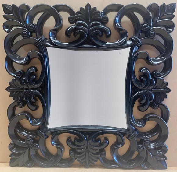 Black Fluer-de-lis Mirror