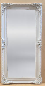 Ornate White Framed Mirror