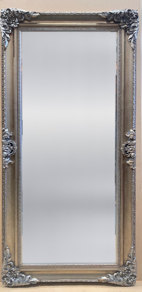Ornate Silver Framed Mirror