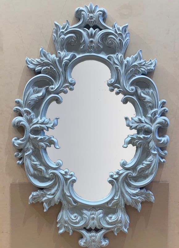 Ornate Greyish Mirror