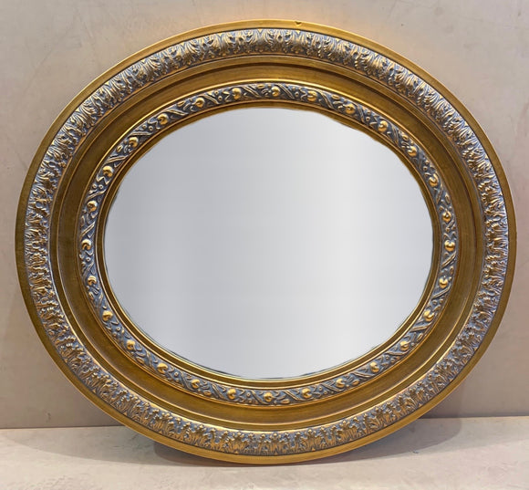 Oval Gold Carved Mirror