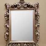 Antique Silver ornate mirror