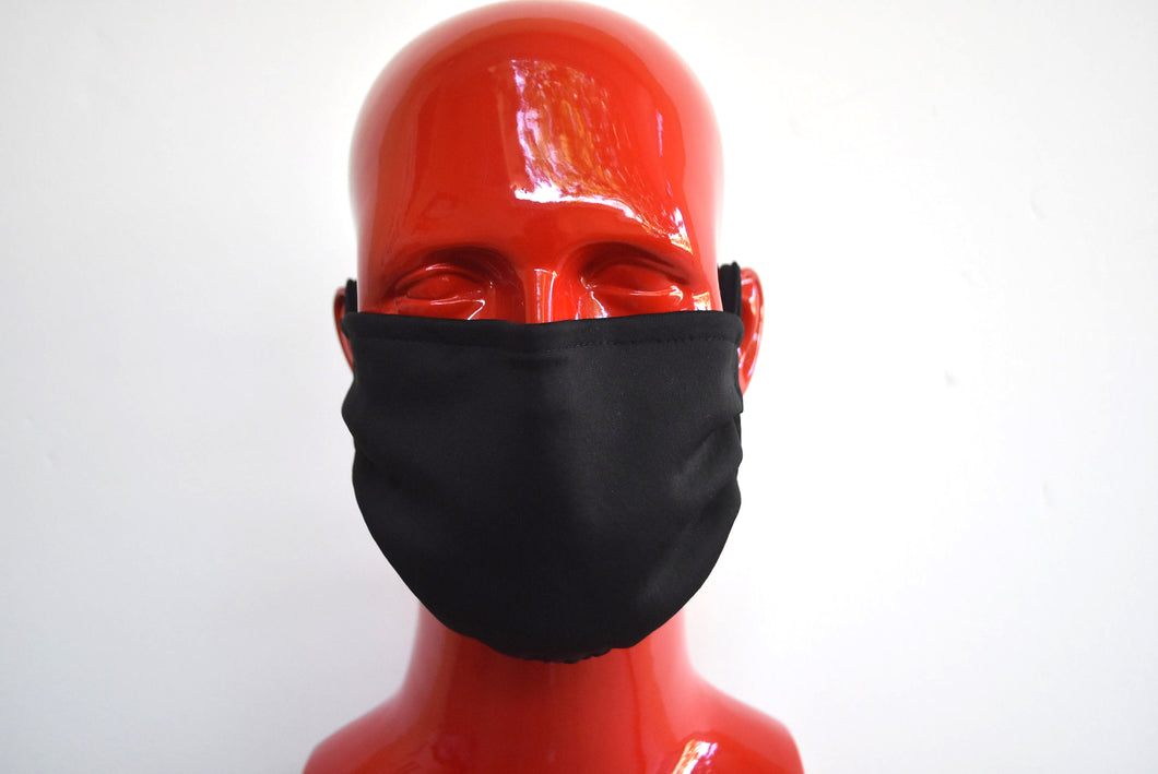 Double-Strap Black Mask Large/Xtra Large