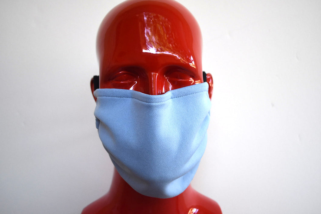 Double-Strap Light Blue Mask Small/Med