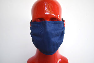 Double-Strap Navy Blue Mask Small/Med