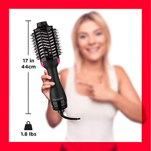 REVLON One-Step Hair Dryer And Volumizer Hot Air Brush, Black, Packaging May Vary