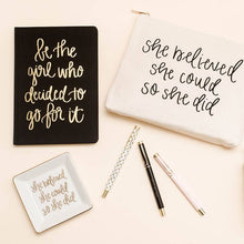 Load image into Gallery viewer, Inspirational Pen Set black pink white gold