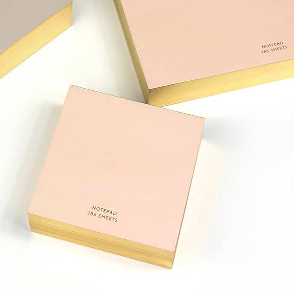Blush and gold notepad