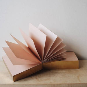 blush notepad with gold foiled edges
