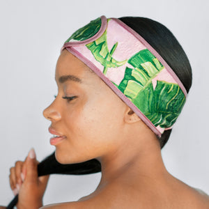 Microfiber Spa Headband - Palm Print