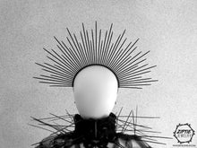 Load image into Gallery viewer, Black Spike Zip Tie Halo Crown