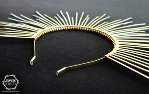 Gold Spike Halo Crown