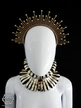 Load image into Gallery viewer, Gold Beaded Halo Crown or Gold Neckpiece