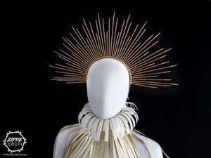 Gold Spike Zip Tie Halo Crown
