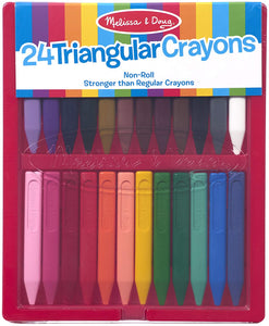 24 Triangular Crayons