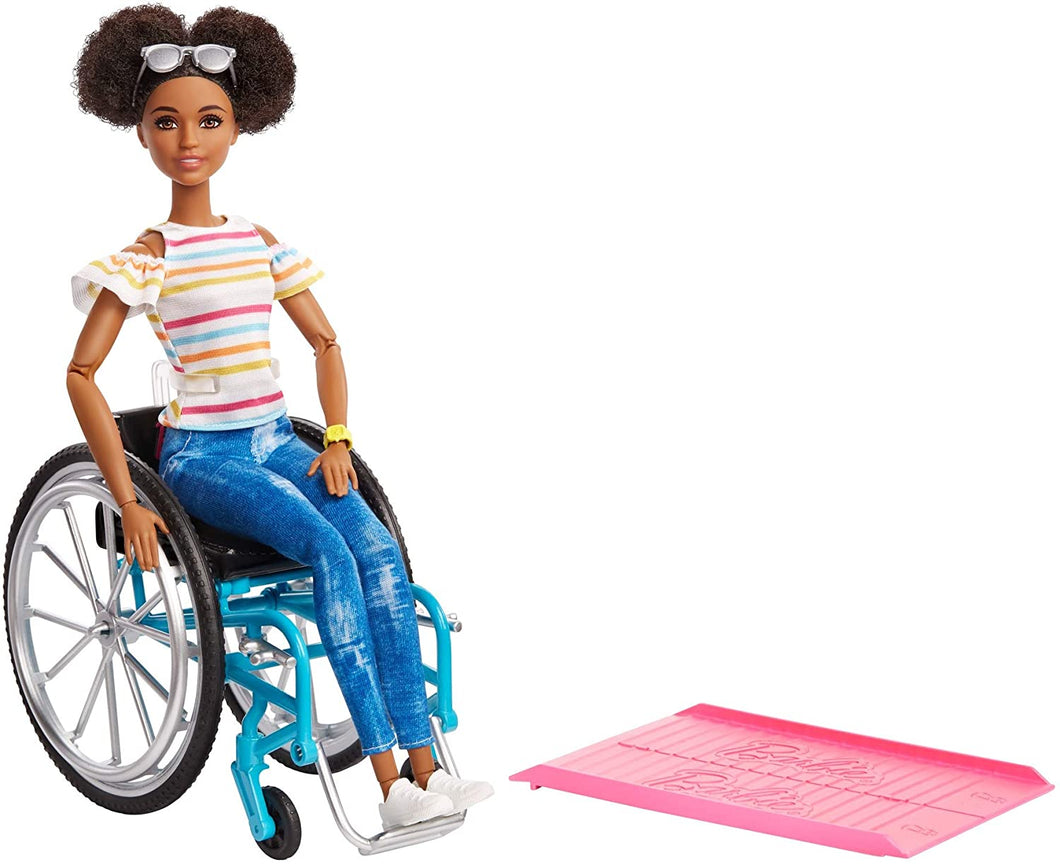 Barbie Wheelchair Accessory and Doll Brunette