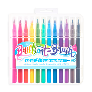 Brilliant Brush Markers Set of 24