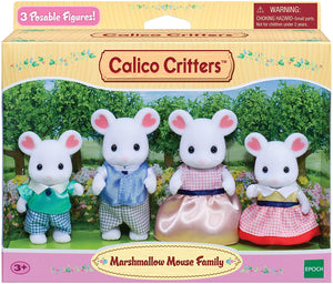 Calico Critters Marshmallow Mouse Family