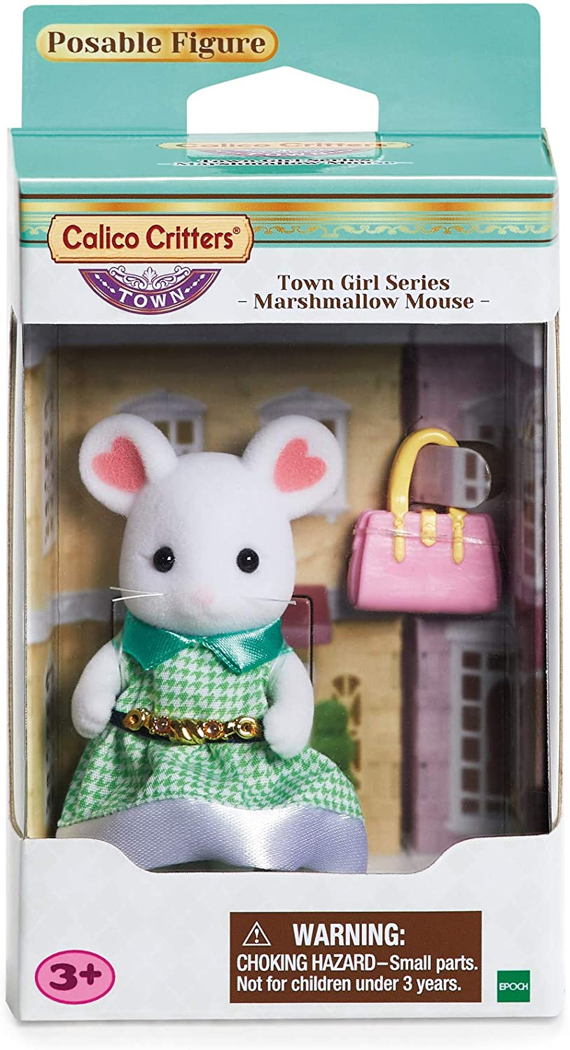 Calico Critters Town Girl Stephanie Marshmallow Mouse