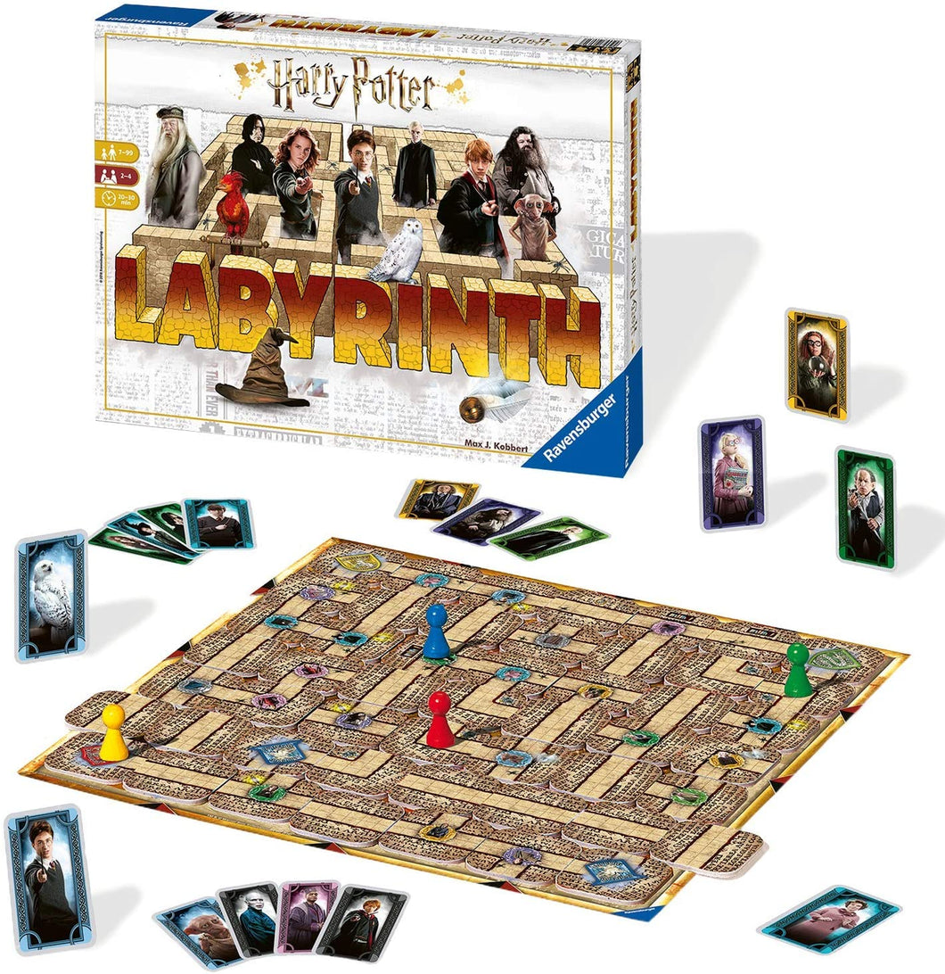 Harry Potter Labyrinth Family Board Game for Kids & Adults Age 7 & Up