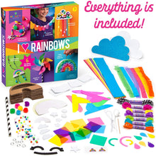 Load image into Gallery viewer, Craft-tastic – I Love Rainbows Craft Kit – Make 6 Colorful Arts & Crafts Projects