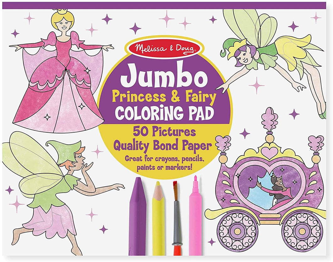 Jumbo Princess & Fairy Coloring Pad