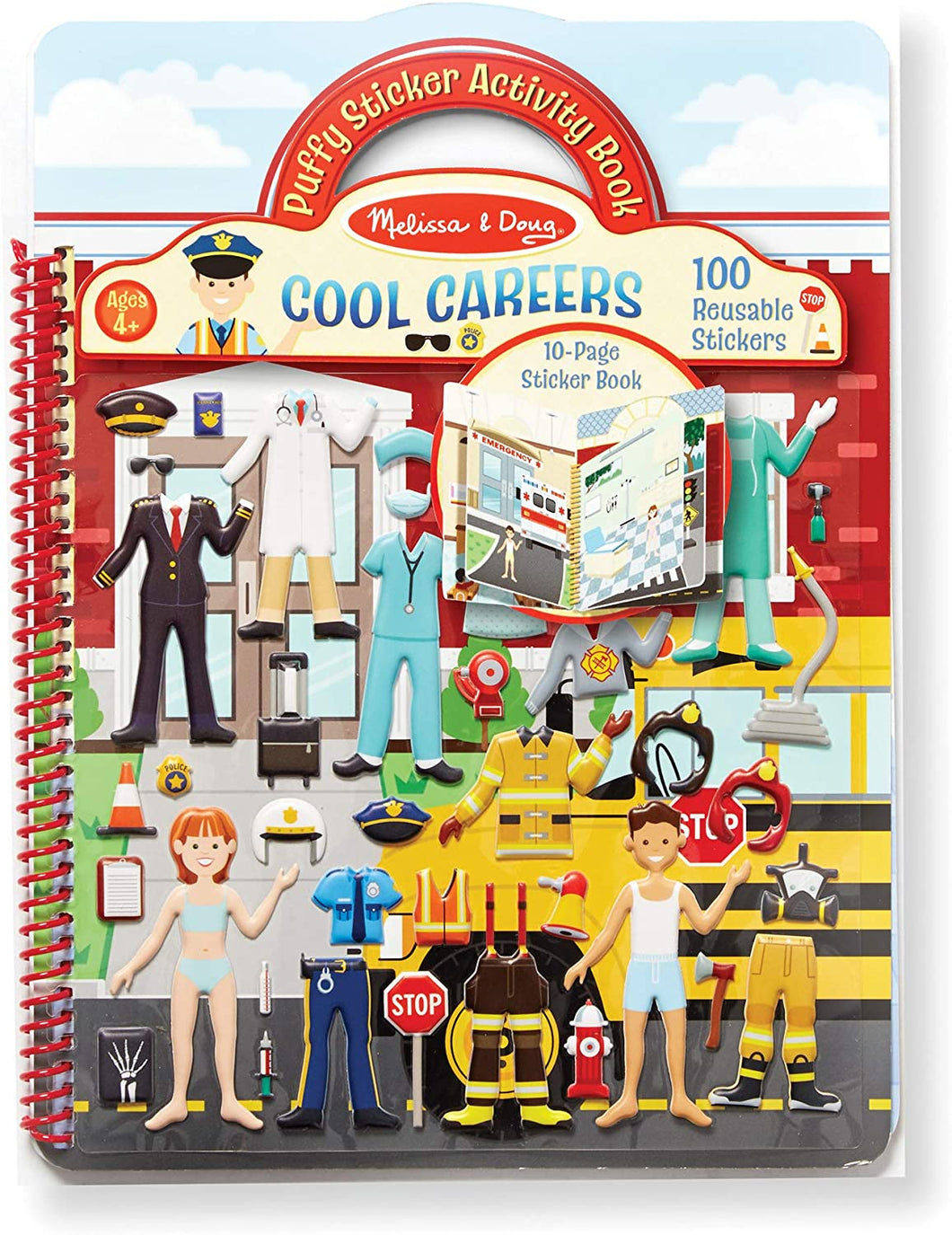 Puffy Sticker Activity Book Cool Careers