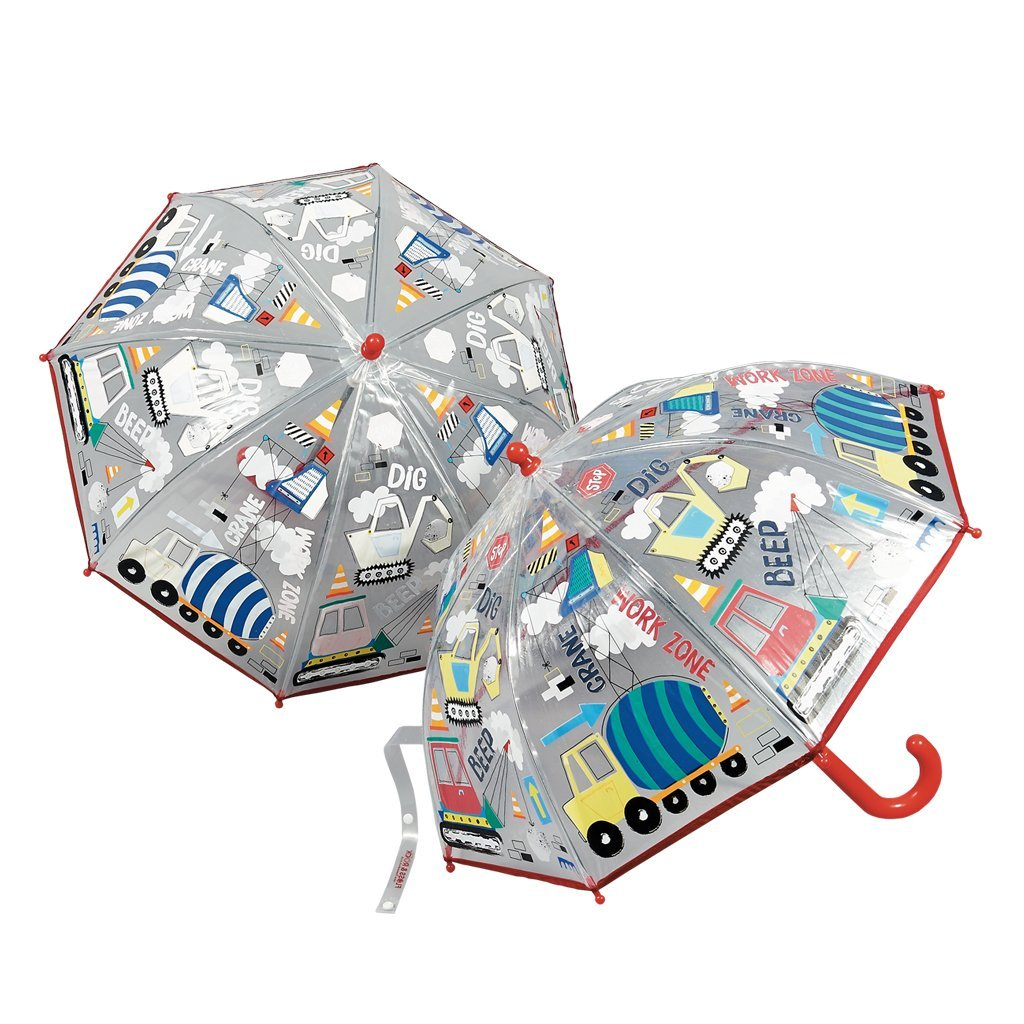 Color Change Umbrella Construction Transparent