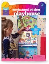 Load image into Gallery viewer, Craft-tastic Jr Little Enchanted Sticker Playhouse Includes 200+ Repositionable & Restickable Stickers for Hours of Fun