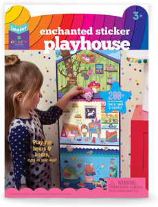 Craft-tastic Jr Little Enchanted Sticker Playhouse Includes 200+ Repositionable & Restickable Stickers for Hours of Fun