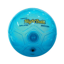 Load image into Gallery viewer, Tangle Night Soccer Inflatable Blue (Size 5)
