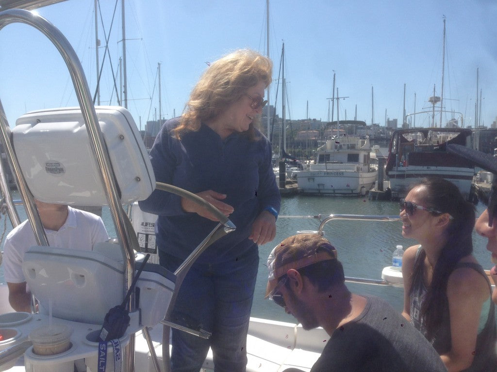 Captain Z giving her crew instructions