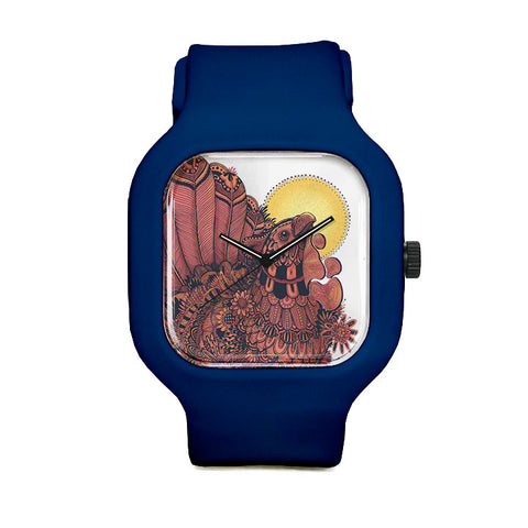 Rooster Transparent Background Sport Watch