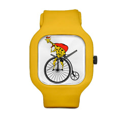 Christmas Giraffe on a Bike Sport Watch