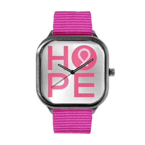 NBCF HOPE Block Pink Watch
