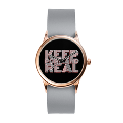 Vegan Grey Rose City Watch
