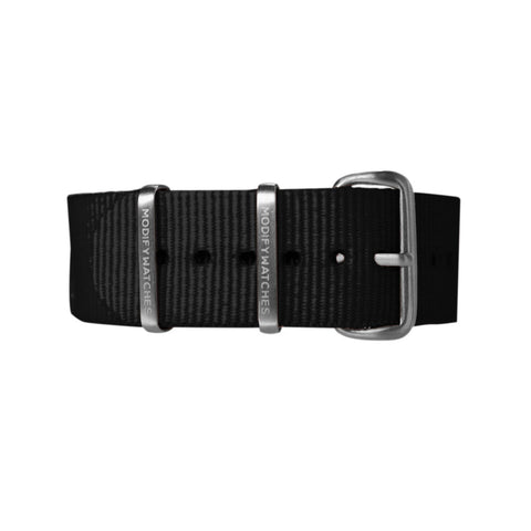 Black Nylon Watch Strap