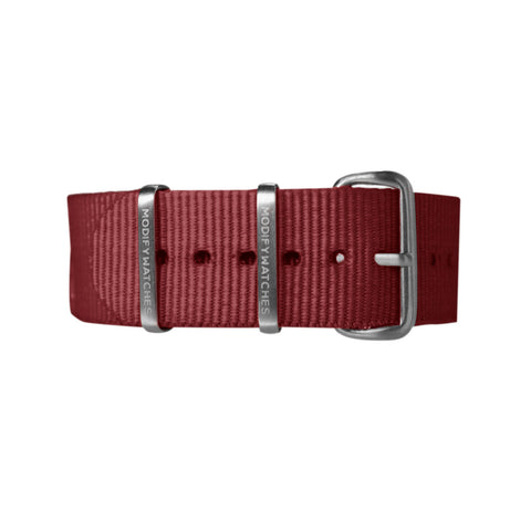 Crimson Nylon Watch Strap