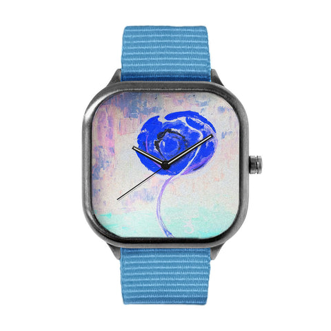 Golden Rose Acrylic Icey Blue Watch