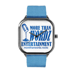More Than Wordz.Rock Blue Watch