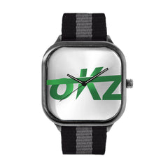 okz Logo Green Watch