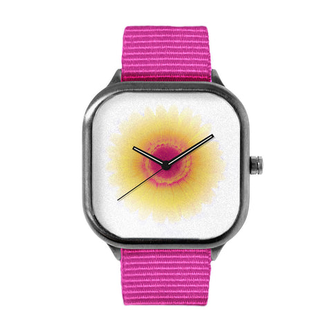Amber Sunrise Flower Watch