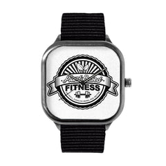 Plant Based Fitness Black and White Watch