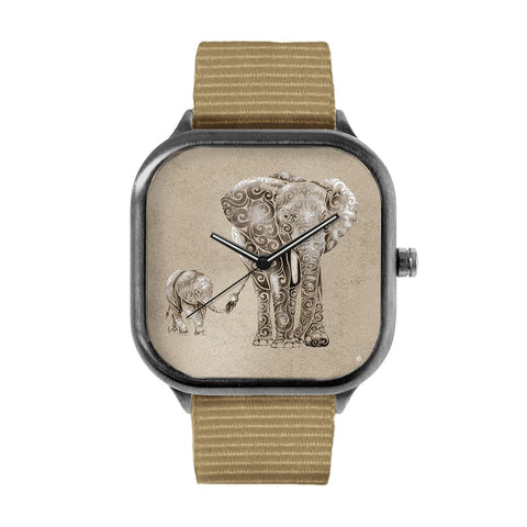 Swirly Elephant Family Watch
