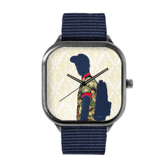 Blue Silhouette Watch